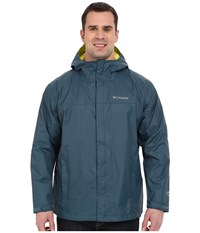 Columbia Watertight Ii Jacket Extended Everblue Chartreuse Men's Coat