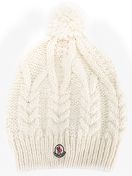 Moncler Bobble Beanie Nude And Neutrals
