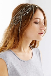 Urban Outfitters Dripping Chains Jeweled Goddess Chain Headwrap Gold