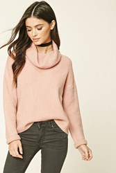 Forever 21 Cowl Neck Sweater Pink