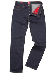 Pretty Green Burnage Straight Fit Rinse Washed Jeans Blue