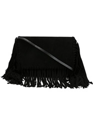 Isabel Marant Fringed Crossbody Bag Black