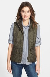 Women's Barbour 'Cavalry' Quilted Vest Olive