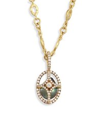 Jordan Alexander Caged 18Mm 20Mm Tahitian Pearl Diamond And 18K Yellow Gold Pendant