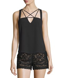 Bcbgmaxazria Raelyn Sleeveless Strappy Top Black Women's