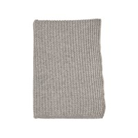 Johnstons Of Elgin Cable Knit Cashmere Throw Light Grey