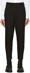 Ann Demeulemeester Black Ribbed Cuff Trousers