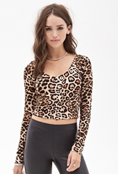 Forever 21 Leopard Print Crop Top