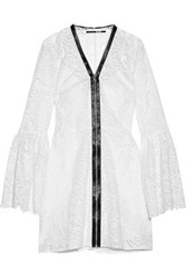 Mcq By Alexander Mcqueen Guipure Lace Mini Dress White