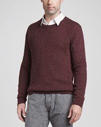 Theory Alpaca Wool Blend Crewneck Sweater Red