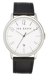 Ted Baker Men's London Leather Strap Watch 42Mm Black