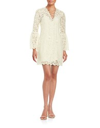 Rachel Zoe Lace Overlay Peasant Dress White