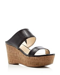 Marc Fisher Shelbee Slide Wedge Sandals Compare At 89 Black