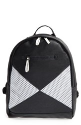 Poverty Flats By Rian Sport V2 Faux Leather And Neoprene Backpack Black Black White