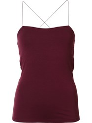 Alexander Wang T By Cut Out Cami Top Red