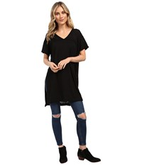 Culture Phit Lucia Short Sleeve Top With Side Slit Black Women's Clothing