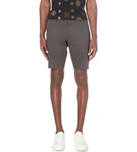 Paul Smith Slim Fit Stretch Cotton Shorts Chocolate
