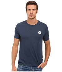 Converse Core Left Chest Core Patch Short Sleeve Crew Tee Nighttime Navy Men's T Shirt
