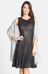 Women's Glint Metallic Lightweight Wrap Metallic Silver