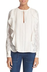 Women's See By Chloe Lace And Ruffle Blouse