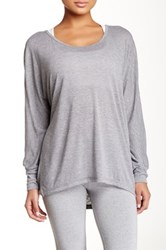 Zella Scoop Neck Dolman Sleeve Tee Gray
