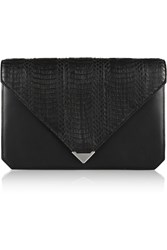 Alexander Wang Prisma Leather And Elaphe Clutch