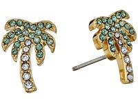 Kate Spade Out Of Office Palm Tree Studs Earrings Light Green Multi Earring