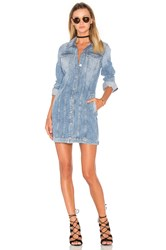 7 For All Mankind Trucker Shirt Dress Blue