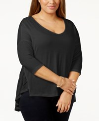 Jessica Simpson Plus Size V Neck High Low Sweater