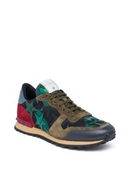 Valentino Star Camo Rock Runner Sneakers Black Multi