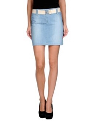 Cotton Belt Denim Skirts Blue