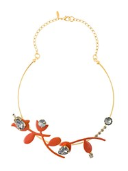 Marni Floral Necklace Metallic