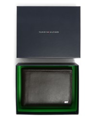 Tommy Hilfiger Brown Smooth Italian Leather Wallet