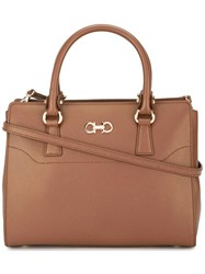 Salvatore Ferragamo Double Gancio Tote Brown