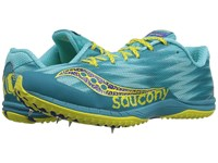 Saucony Kilkenny Xc Spike Teal Yellow Women's Shoes White