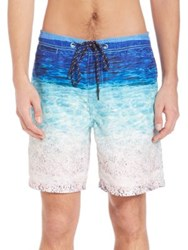 Surfside Supply Co. Beach Print Photo Real Swim Trunks