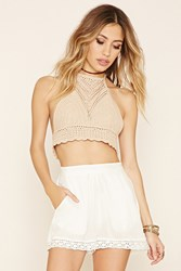 Forever 21 Raga Crochet Trim Shorts
