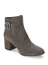 Saks Fifth Avenue Leather Almond Toe Ankle Boots Lavagna