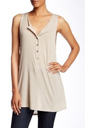 Painted Threads Henley Tunic Tank Beige