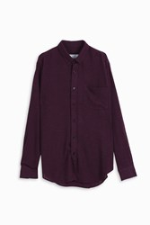 Ami Alexandre Mattiussi Light Wool Shirt Brown