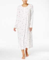 Charter Club Smocked Printed Knit Nightgown Only At Macy's Cardinal