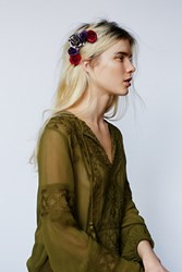 Free People Womens Metallic Floral Comb
