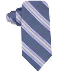 Ryan Seacrest Distinction City Stripe Slim Tie Purple