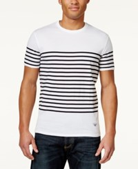 Armani Jeans Men's Sailor Stripe T Shirt White