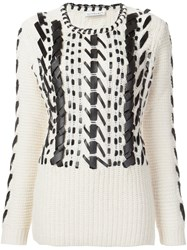 Altuzarra Leather Detail Sweater White