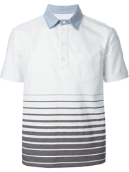 Band Of Outsiders Striped Polo Shirt White