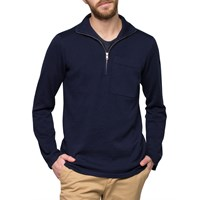 Gant Rugger Navy Turtleneck Zip Sweater Blue