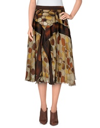Basso And Brooke 3 4 Length Skirts Beige