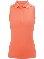 Callaway Opti Dri Sleeveless Polo Orange
