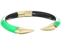 Alexis Bittar Mirrored Pyramid Brake Hinge Bracelet Opaque Lime Clear Bracelet Green